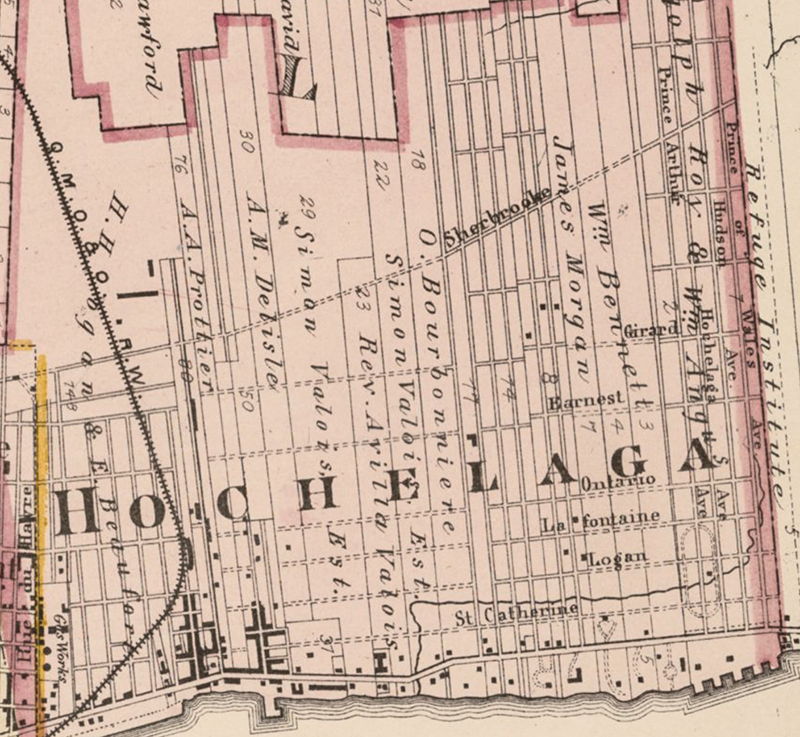 Carte de Montréal 1879