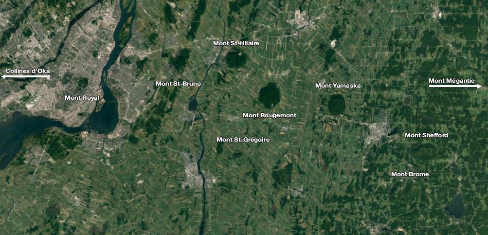 Les collines Montérégiennes