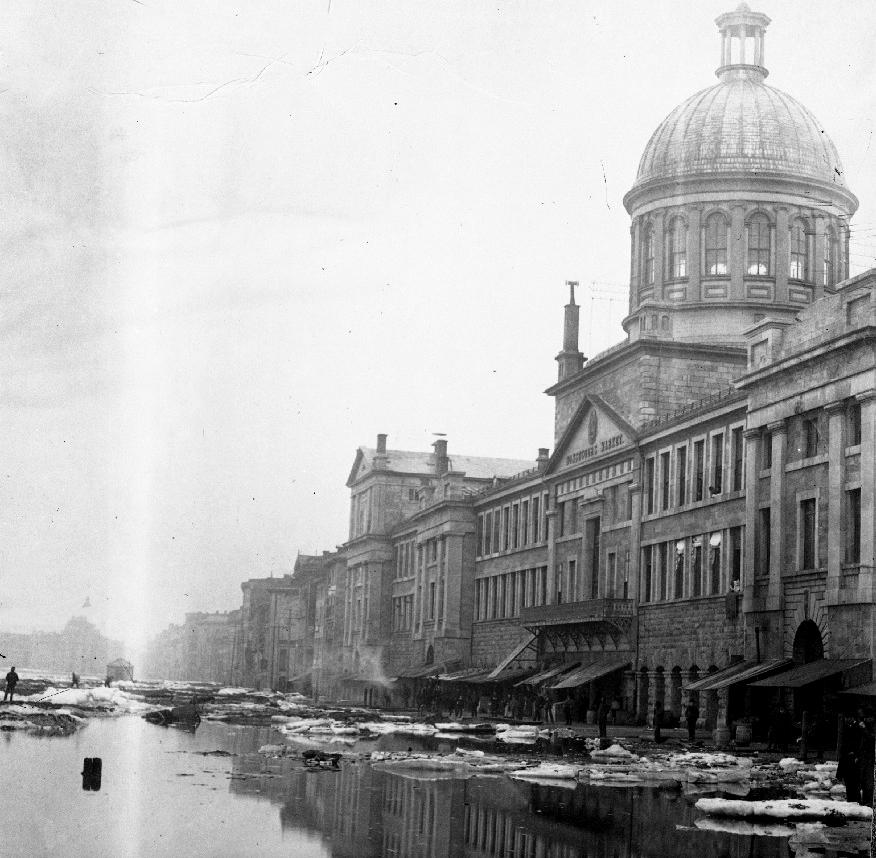 Inondations dans le port de Montréal, 1886