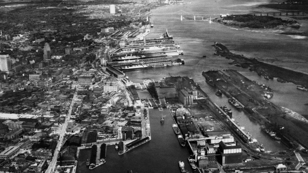 Port de Montréal en 1931