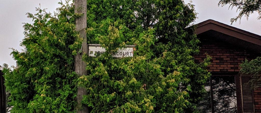 Panneau de la rue Poutrincourt