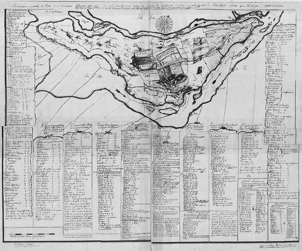Carte de Montréal, 1702