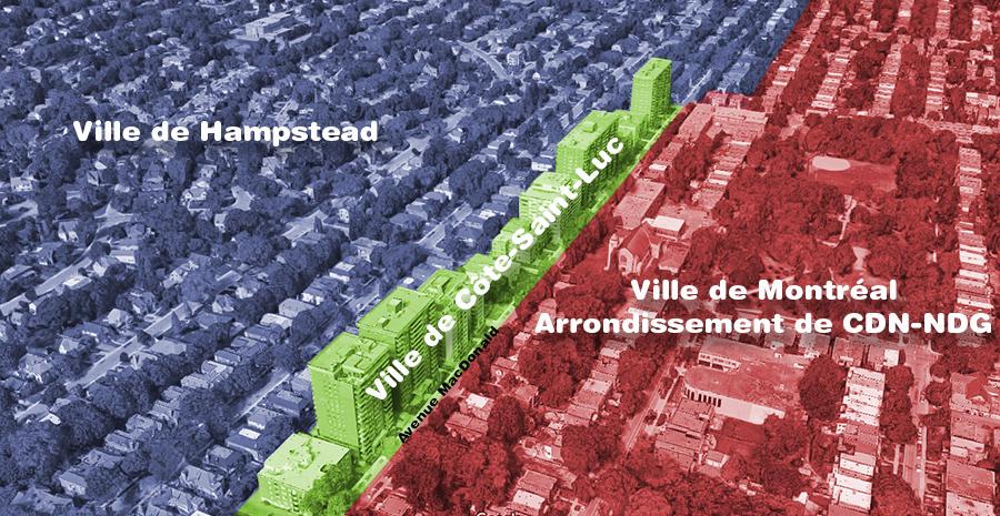 Graphique présentant la rue MacDonald à Côte-Saint-Luc.
