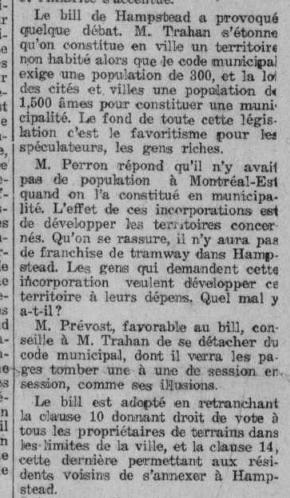Le Devoir, 13 décembre 1913