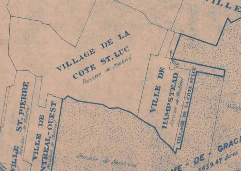 Plan de la cité de Montréal 1917