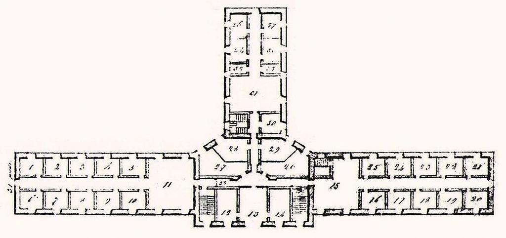 Plan de la Prison au Pied-du-Courant