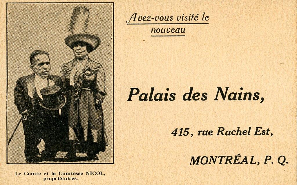 Carte de Visite du Palais des Nains