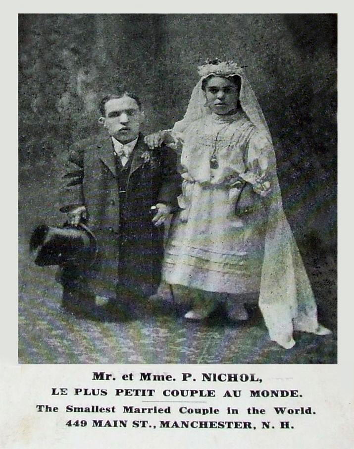 Le couple de nouveaux mariés