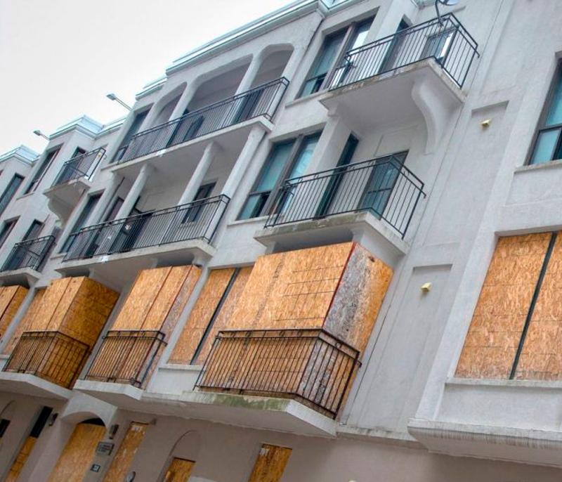 Les Appartements Riga détruits en 2019