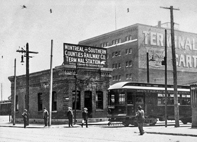 La gare originale de la M&SC Railway, 1925