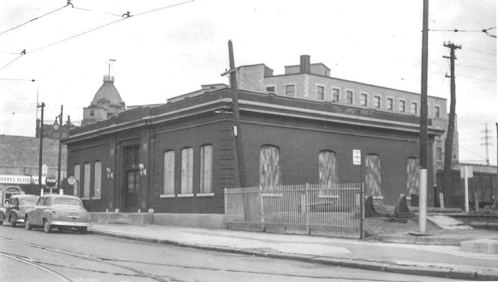 La gare fermée à la fin des années 50