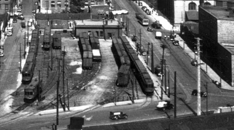 La gare de la rue McGill en 1948.