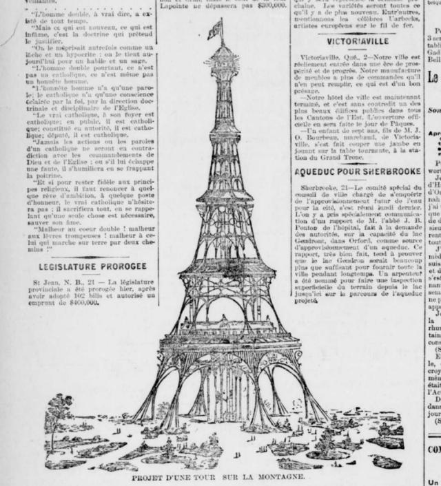 Une tour Eiffel sur le mont Royal