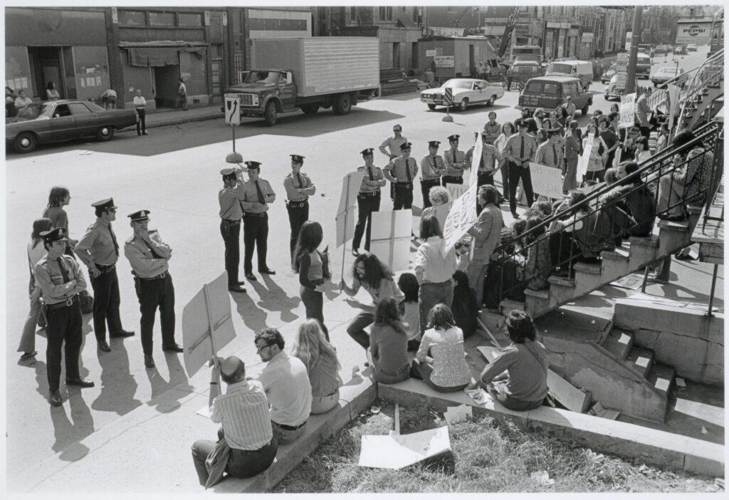 Sit-In et arrestation le 26 mai 1972