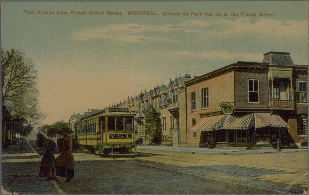 Intersection Parc et Prince Arthur en 1900