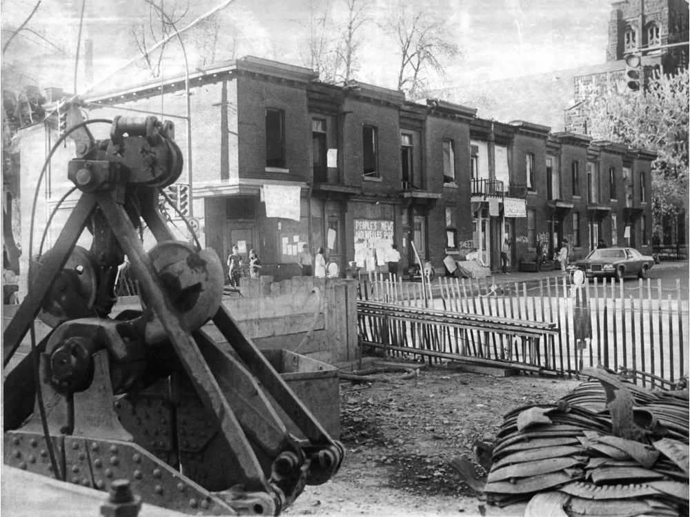Démolition en 1972