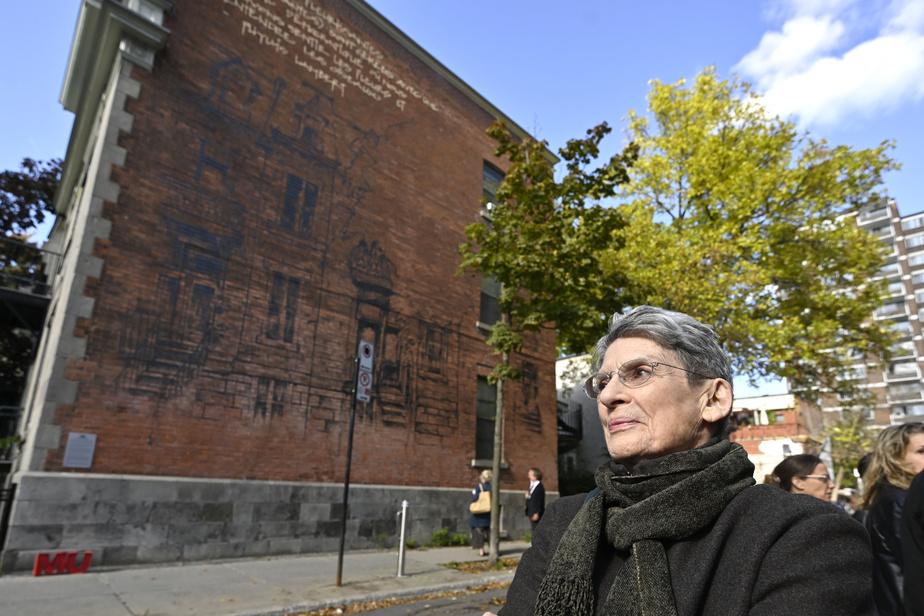 Murales de MU et Melissa de Pinto à l'angle des rues Jeanne-Mance et Milton en honneur à Phyllis Lambert