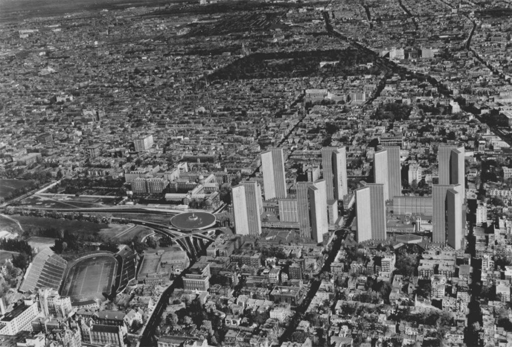 Esquisse du plan original de 1962
