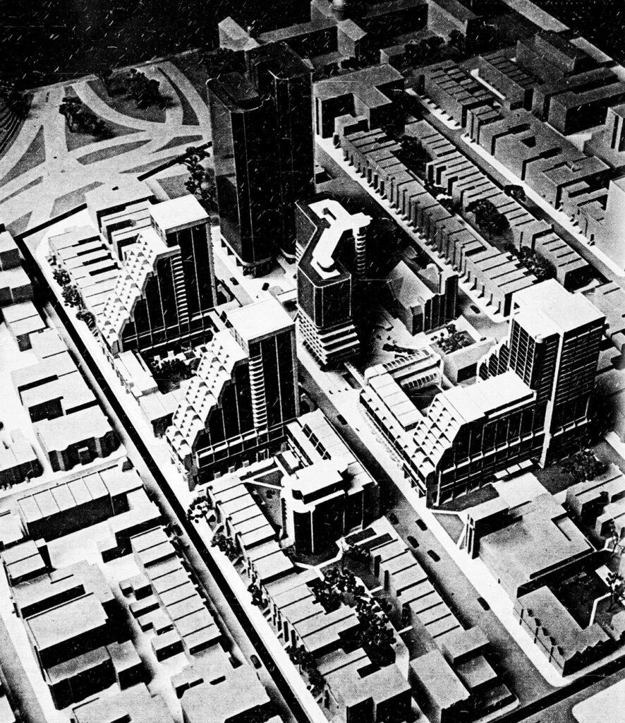 Maquette de la Phase 1 de la Cité Concordia