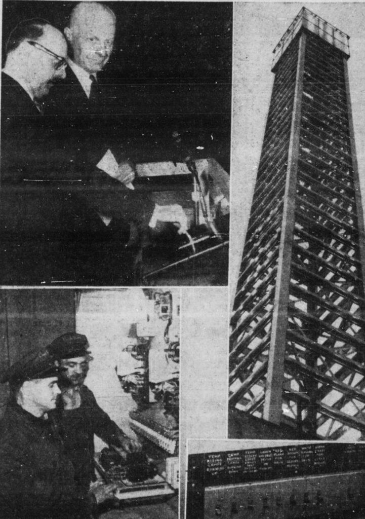 Photos de l'inauguration de la balise météo de la Patrie du 13 avril 1956